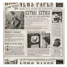 """Бумага упаковочная """"Газета"""" светлая (10 листов 30,5х30,5 см)"""