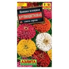 Семена Цинния Крупноцветковая, смесь окрасок